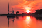 Nonsuch Sailboat at Sunrise in Cedar Island Cove, Coecles Harbor, Shelter Island, NY
