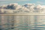 Morning Clouds and Calm Waters of Long Island Sound, off Long Island, Southold, NY