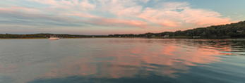 Cloud Reflections at Sunset at Three Mile Harbor, Long Island, East Hampton, NY