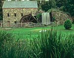 Grist Mill and Cattails at the Wayside Inn