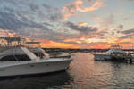 Boats at Payne's Dock at Sunset, Great Salt Pond and New Harbor, Block Island, RI