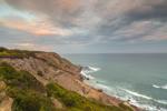 Sunset over Mohegan Bluffs and Atlantic Ocean, Block Island, RI