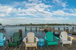 Adirondack Chairs on Payne's Dock, Great Salt Pond and New Harbor, Block Island, RI