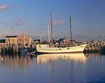 Schooner at Dock, Nantucket Harbor