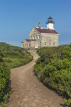 North Lighthouse with Path at Sandy Point, Block Island, RI