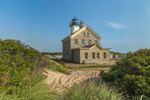 North Lighthouse with Beach Grasses on Dunes, Block Island, RI