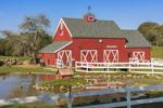 Red Barn and White Fences at Beacon Hollow Farm, Block Island, RI