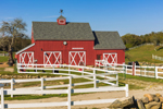 Red Barn and White Fences at Beacon Hollow Farm, Block Island, RI