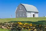 Natural Wood Barn on Mitchell Farm, Built 1756, Block Island, RI