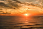 Sunset over Atlantic Ocean, View from Gay Head Cliffs, Martha's Vineyard, Aquinnah, MA
