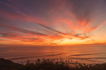 Sunset over Atlantic Ocean, View from Gay Head Cliffs, Martha's Vineyard, Aquinnah, MA