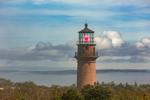 Gay Head Lighthouse with Fog Bank in Background, Martha's Vineyard, Aquinnah, MA