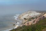 Gay Head Cliffs in Fog, Martha's Vineyard, Aquinnah, MA