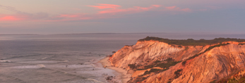 Gay Head Cliffs at Sunset, Martha's Vineyard, Aquinnah, MA