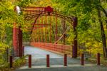 Falls Bridge (Berlin Iron Bridge) Spanning Housatonic River, Built 1895, Restored 2007, Lover's Leap State Park, New Milford, CT