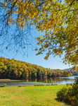 Housatonic River in Fall at Kettletown State Park, Southbury, CT