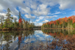 Lake Abanakee Reflections in Autumn, Adirondack Park, Indian Lake, NY