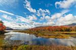Lewey Lake on Sunny Autumn Day, Adirondack Trail Scenic Byway, Adirondack Park, Lake Pleasant, NY