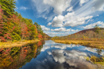 Reflections in Fall at Outlet to Oxbow Lake, Adirondack Park, Arietta, NY