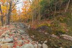 Beede Brook in Fall along High Peaks Scenic Byway, Adirondack Park, near Keene Valley, NY