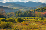 Fields and Mountains in Fall near Norton Brook along High Peaks Scenic Byway, Adirondack Park, Keene Valley, NY