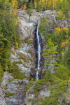 Roaring Brook Falls on Giant Mountain in Autumn, High Peaks Scenic Byway, Adirondack Park, near Keene Valley, NY