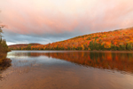 Balfour Lake at Sunrise in Early Autumn, Adirondack Park, Minerva, NY