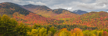 Adirondack Mountains in Fall near Norton Brook along High Peaks Scenic Byway, Adirondack Park, Keene Valley, NY