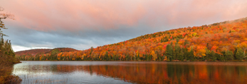 Balfour Lake at Sunrise in Early Autumn, Adirondack Park, Minerva, NY