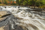Monument Falls on West Branch Ausable River in Fall, Olympic Scenic Byway, Adirondack Park, near Lake Placid, NY