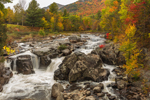 The Flume Falls on West Branch Ausable River in Autumn, Olympic Scenic Byway, Adirondack Park, Wilmington, NY
