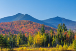 Adirondack Mountains in Fall, Adirondack Park, View from near Foresdale and Black Brook, NY