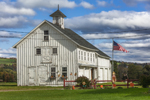 Old White Barn with Cupola, Finger Lakes Region, Homer, NY