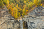 Taughannock Falls in Autumn, Taughannock Falls State Park, Cayuga Lake Scenic Byway, Ulysses, NY
