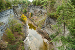 Gorge at Taughannock Falls in Autumn, Taughannock Falls State Park, Cayuga Lake Scenic Byway, Ulysses, NY