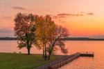 Sunrise on Cayuga Lake at Cayuga Lake State Park, Finger Lakes Region, Seneca Falls, NY