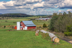 Red Barn and Haybales, Grant County, Maysville, WV