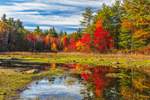 Colorful Fall Foliage at Fitchburg Reservoir, Ashby, MA