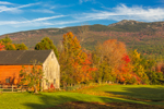 Barn and Meadow in Fall with Mt. Monadnock in Background, Jaffrey, NH