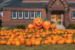 """Pumpkin Patch"" at First Congregational Church in Fall, Gardner, MA"