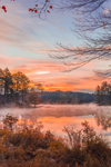 Sunrise at Lawrence Brook in Autumn, Royalston, MA