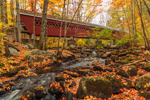 Nissitissit Covered Bridge in Fall, Brookline, NH