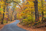 Country Road in Fall, Adirondack Park, Lake George Region, Kattskill Bay, Fort Ann, NY