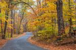 Country Road in Fall, Adirondack Park, Lake George Region, Kattskill Bay, Fort Ann, NY