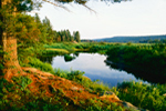 Late Evening Light on Oswegatchie River, Five Ponds Wilderness Area, Adirondack State Park, St Lawrence County, NY