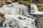 Close Up of Cayuga Falls on Kitchen Creek after Heavy Rainstorm, Ricketts Glen State Park, Luzerne County, near Benton, PA