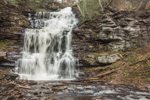 Ganoga Falls on Kitchen Creek after Heavy Rainstorm, Highest Falls in Ricketts Glen State Park, Luzerne County, near Benton, PA