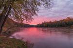 Sunrise on Upper Delaware National Scenic and Recreational River, Upper Delaware River Scenic Byway, Highland, NY