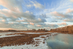 Marshes and Herring River in Winter, Cape Cod, West Harwich, MA