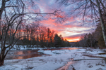 Winter Sunset on the Millers River, near Bearsden Conservation Area, Athol, MA